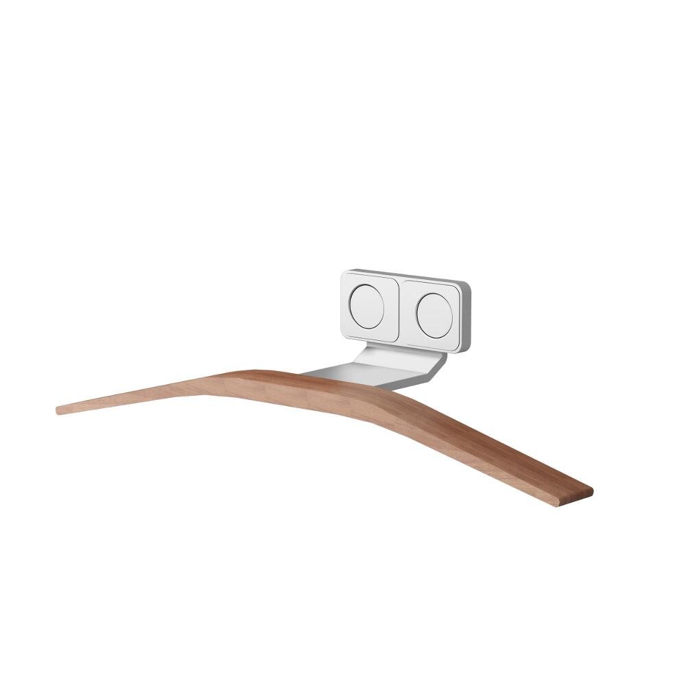 Lazzarini Way - Magentic Easy-Install Aluminium & Teak Towel Hanger