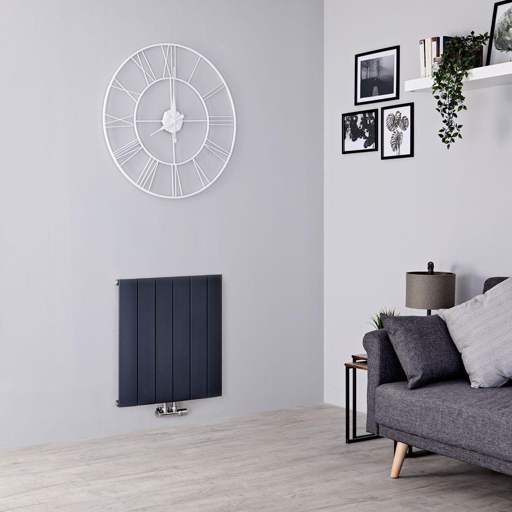 Milano Skye - Aluminium Anthracite Horizontal Designer Radiator - 600mm x 565mm
