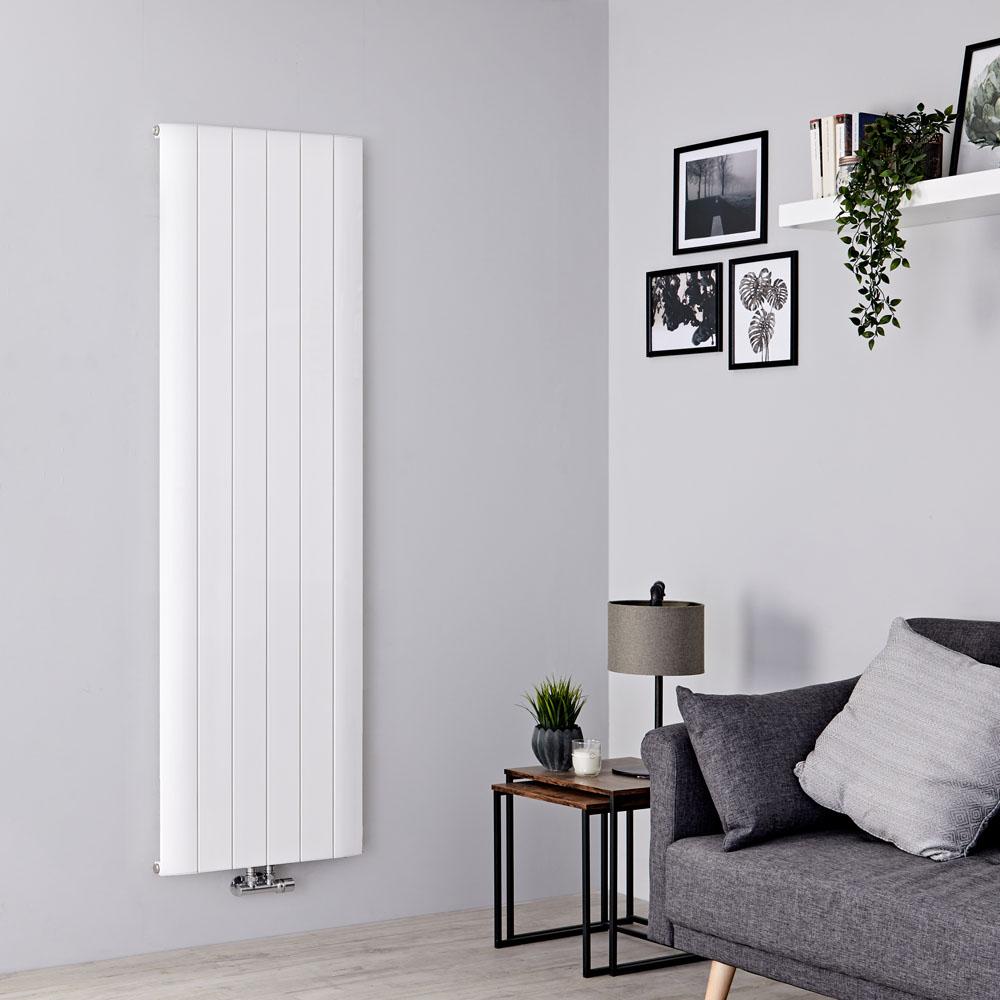 Milano Skye - White Vertical Designer Radiator - 1800mm x 565mm