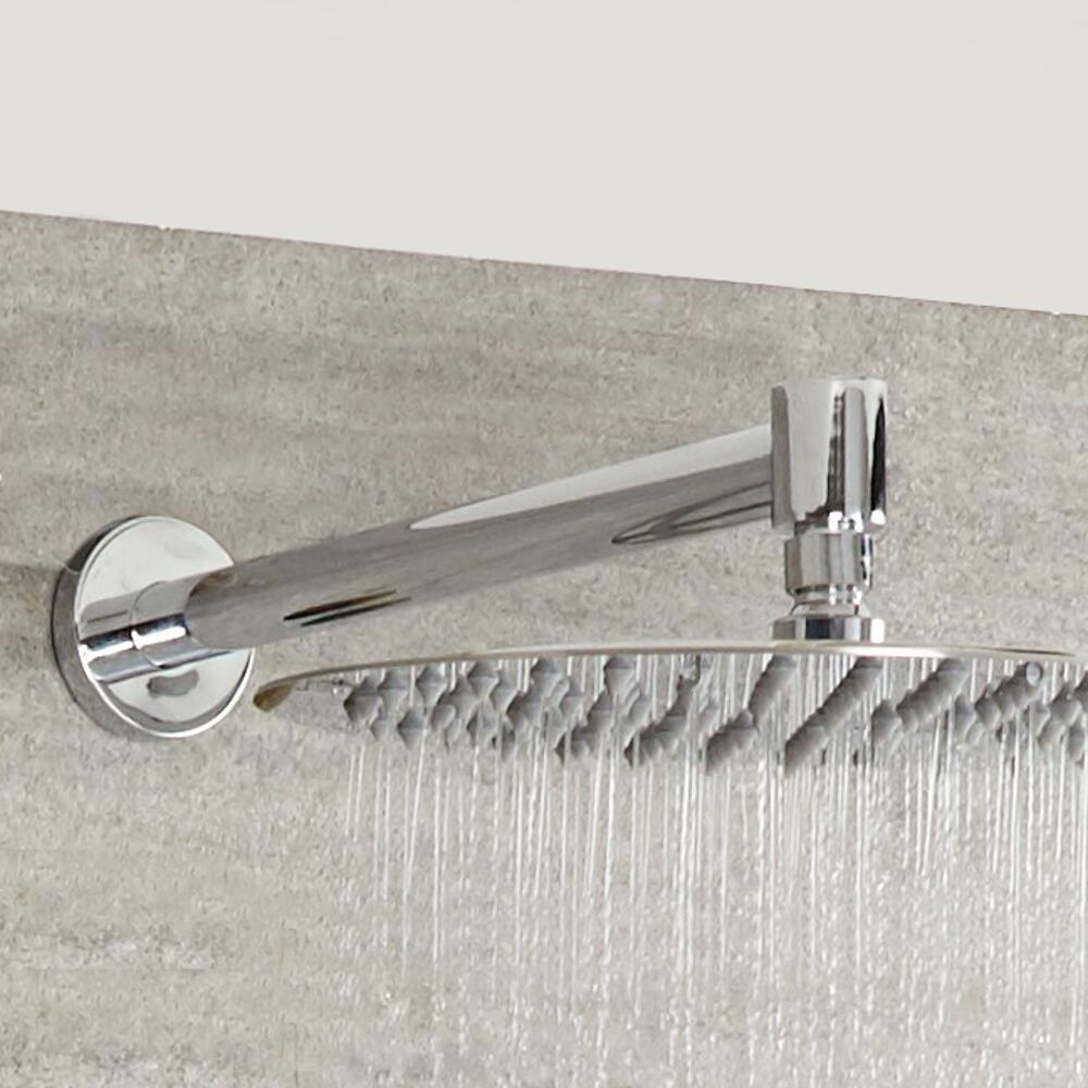 Milano - Modern Round Wall Mounted Shower Arm - Chrome