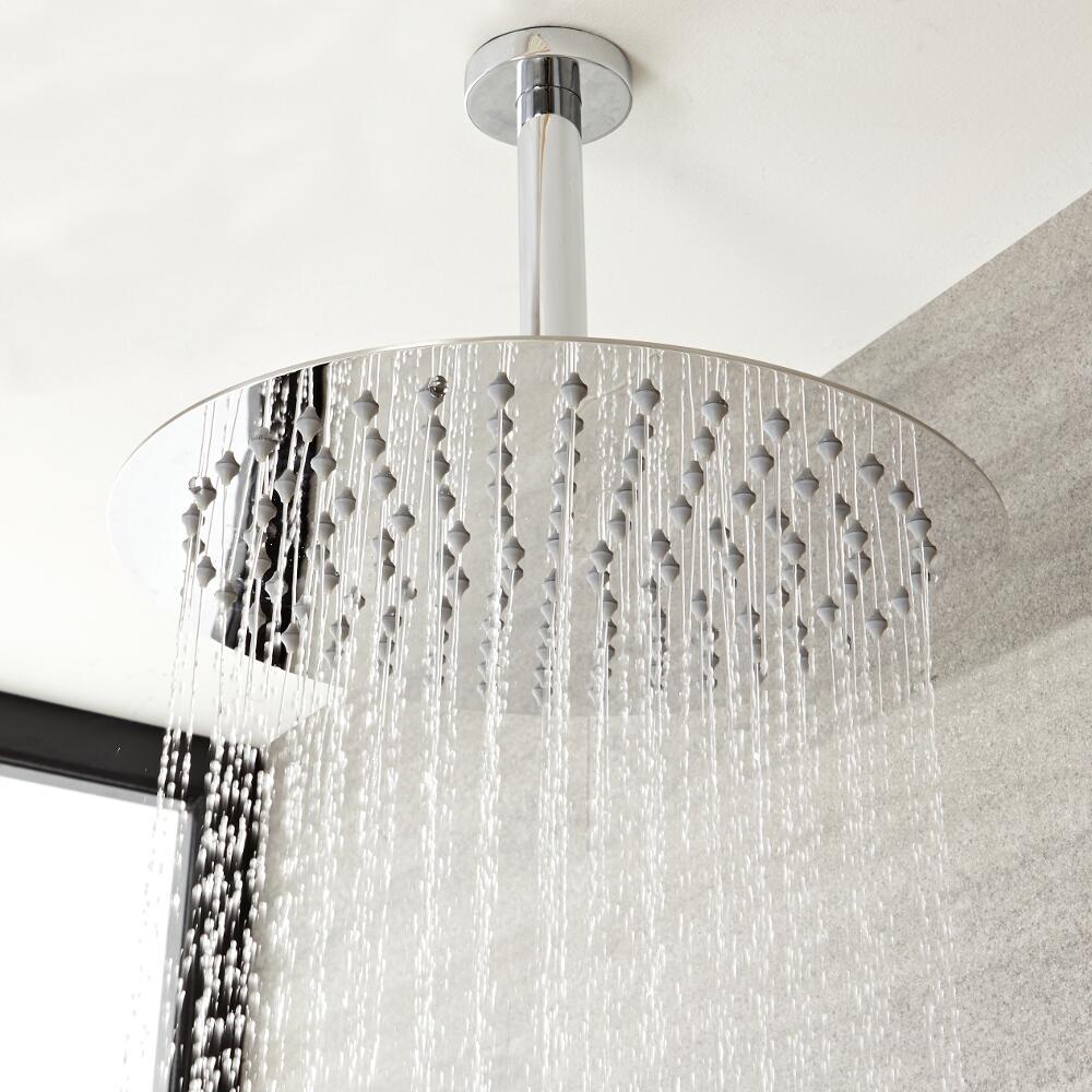 Milano Mirage - Modern Round Ceiling Mounted Shower Arm – Chrome