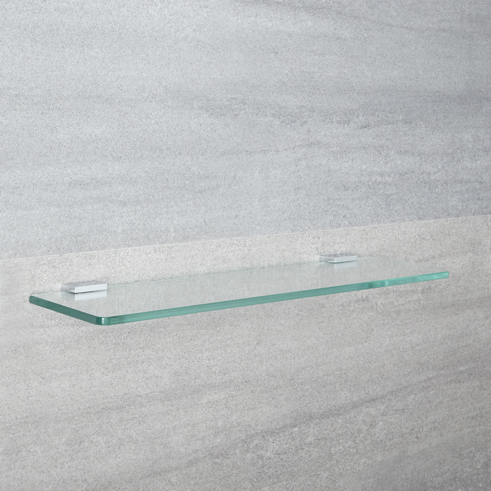 Milano Arvo - Modern Chrome Glass Bathroom Shelf