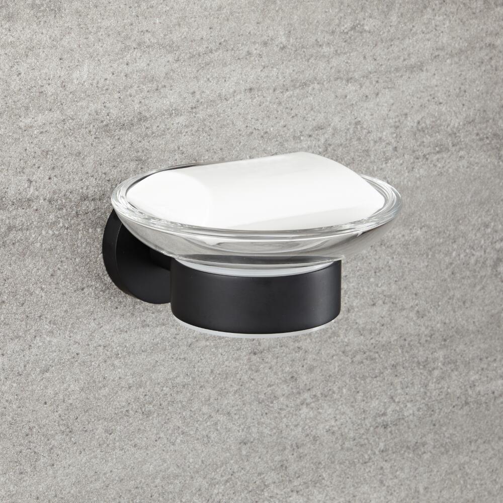Milano Nero - Black Modern Wall Hung Soap Dish