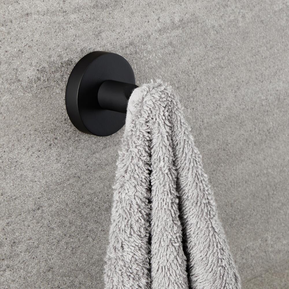 Milano Nero - Black Modern Wall Hung Robe Hook