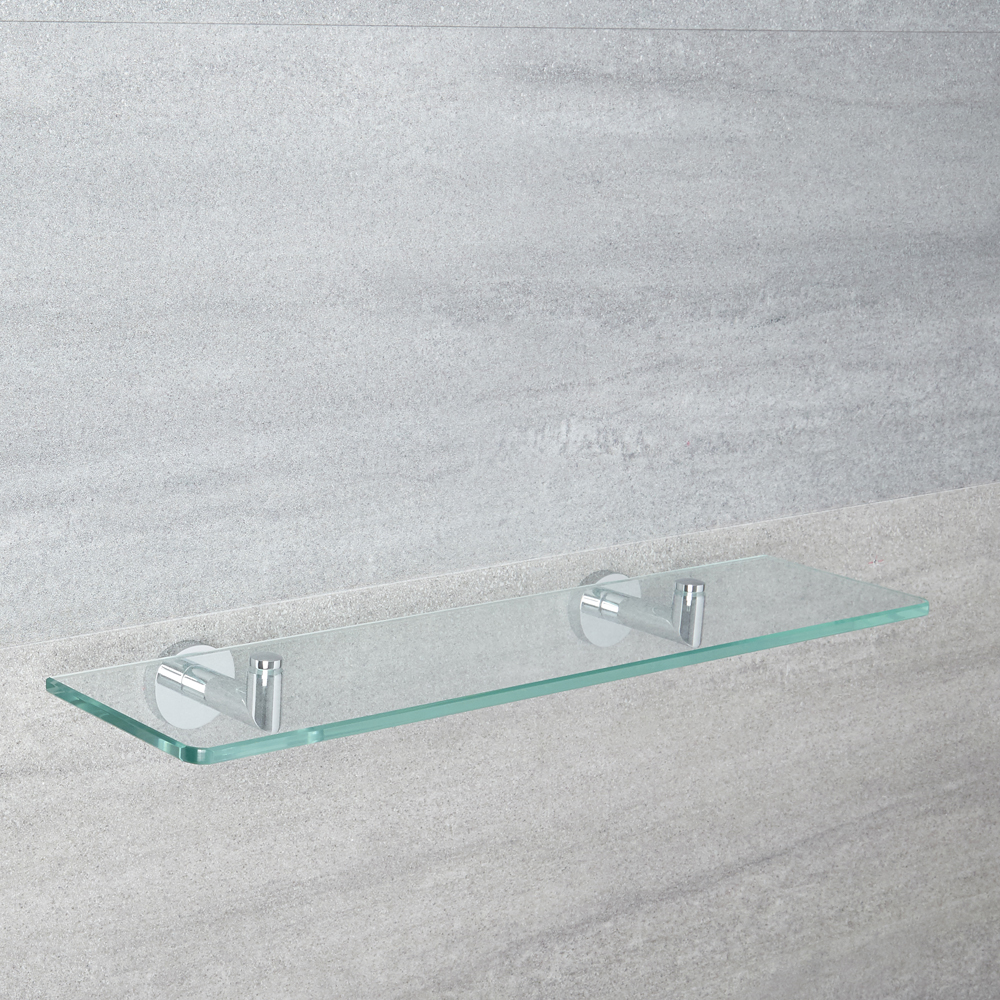 Milano Mirage - Modern Chrome Glass Bathroom Shelf