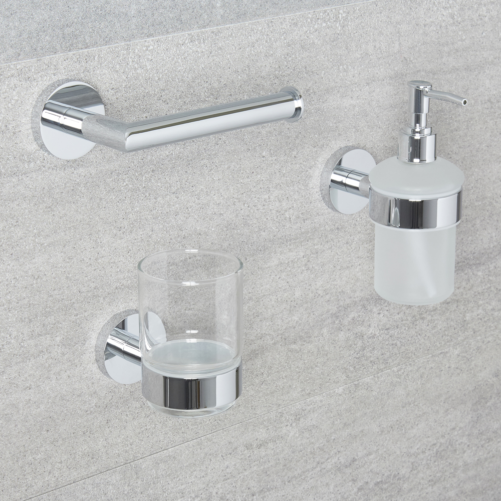 Milano Mirage - Modern 3 Piece Chrome Accessory Pack