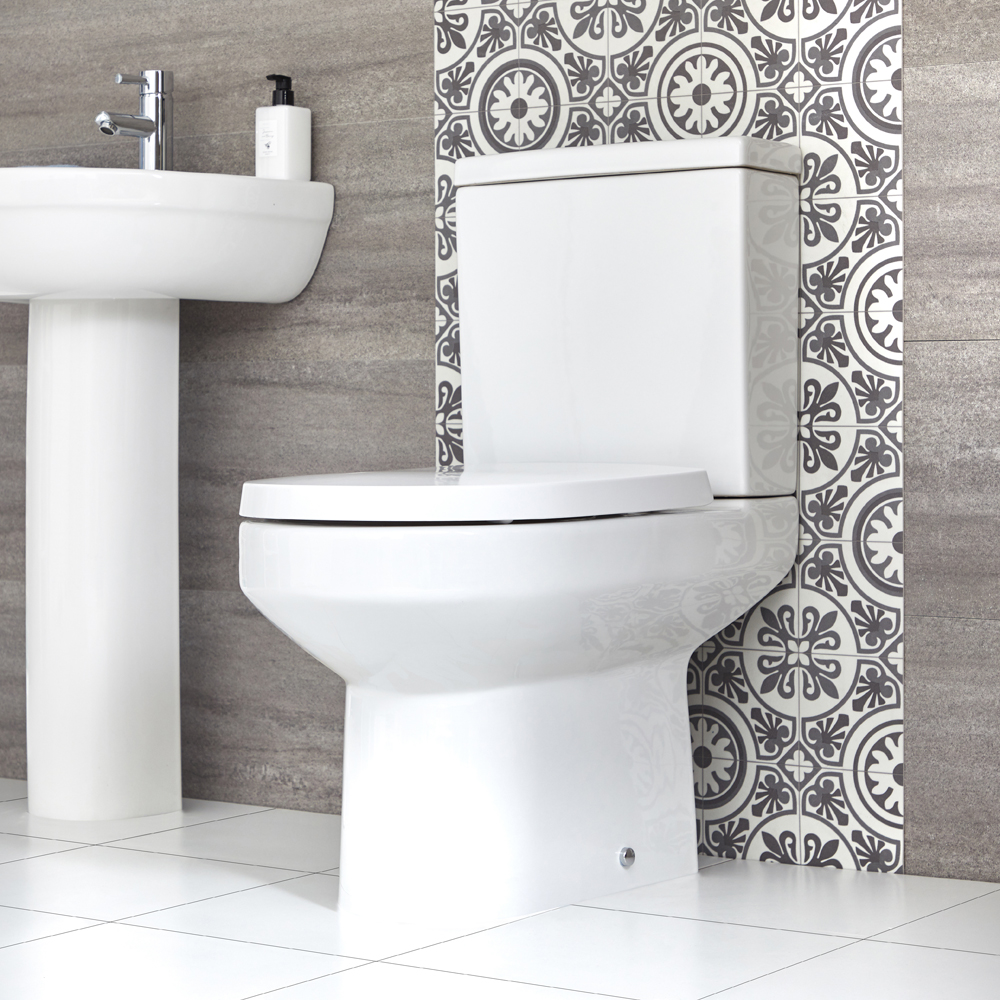 Milano Ballam - Modern Close Coupled Toilet with Soft Close Seat