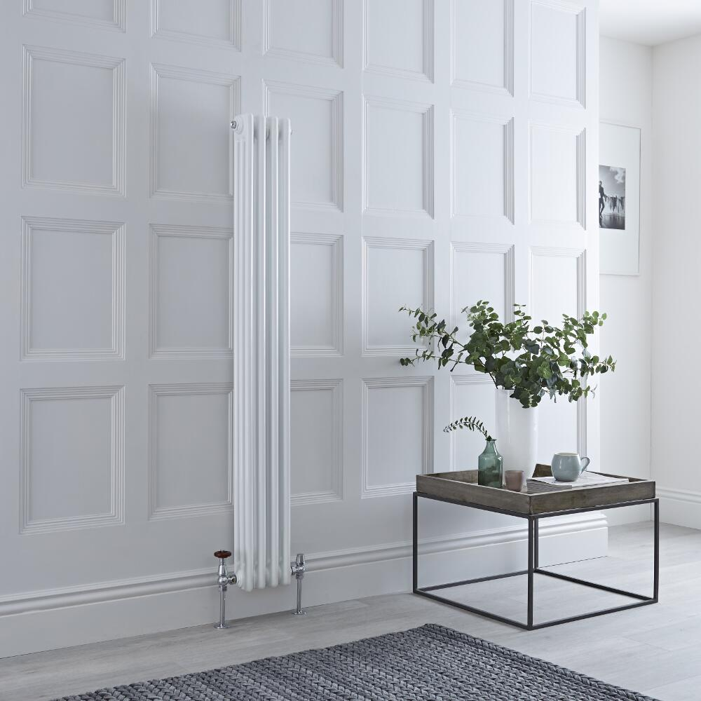 Milano Windsor - White Traditional Vertical Column Radiator - 1500mm x 203mm (Triple Column)