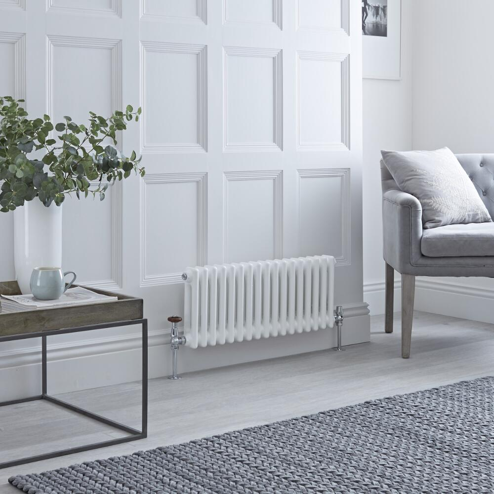 Milano Windsor - Traditional White Horizontal Column Radiator - 300mm x 600mm (Triple Column)