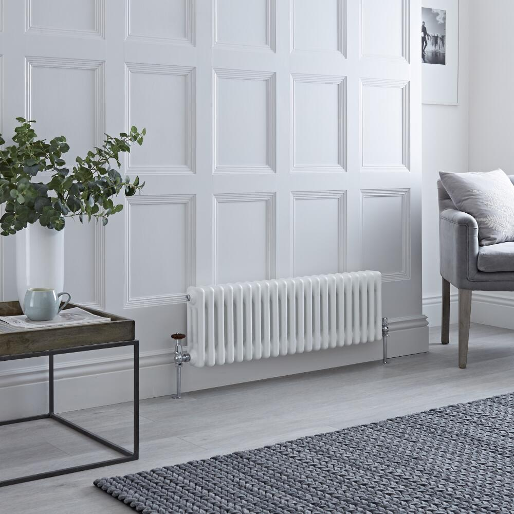 Milano Windsor - Traditional 22 x 3 Column Radiator Cast Iron Style White 300mm x 1013mm