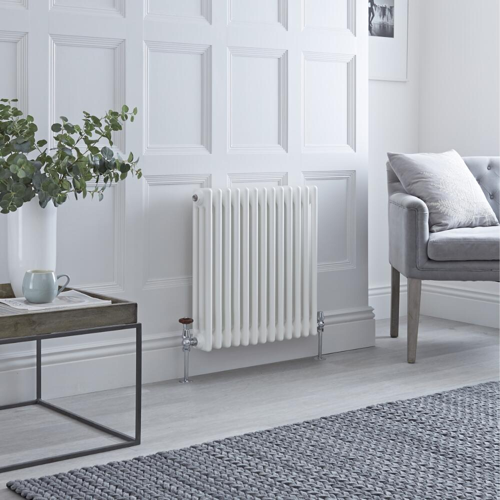 Milano Windsor - White Horizontal Traditional Column Radiator - 600mm x 605mm (Triple Column)