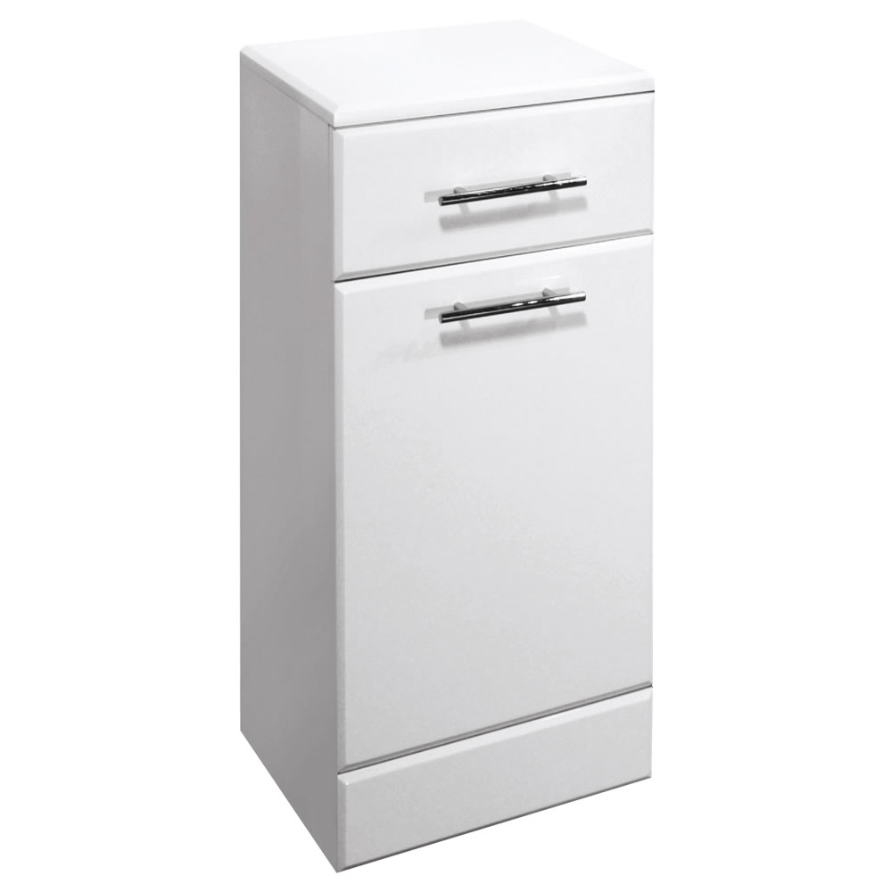 Premier 350x300mm Classic Laundry Unit Gloss White