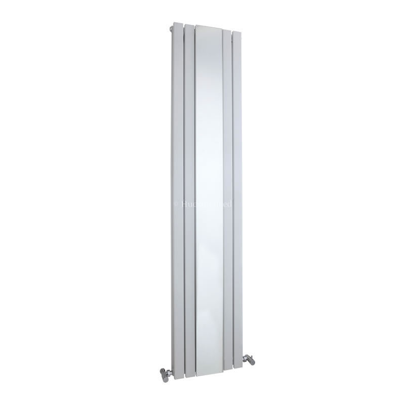 Hudson Reed White Sloane Double Panel Radiator With Mirror 1800mm x 381mm