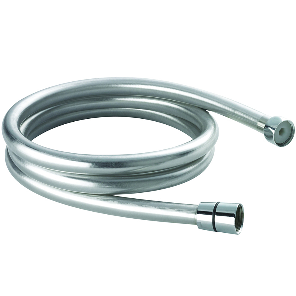 Hudson Reed Smooth Shower Hose Silver Flex 1.5m