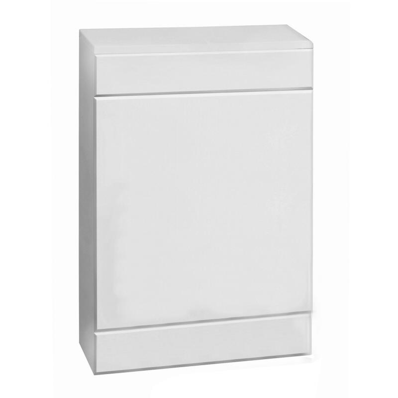 Milano - 500mm x 330mm WC Unit with Concealed Cistern - White Gloss