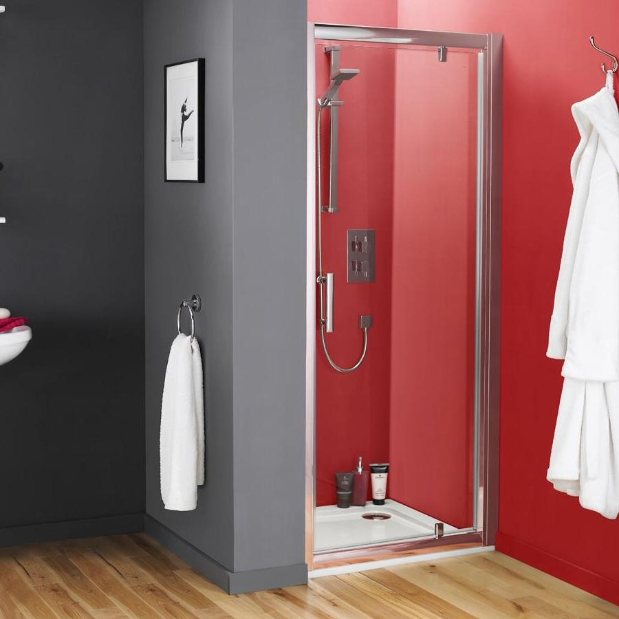 Premier Pacific Pivot Shower Door 760mm