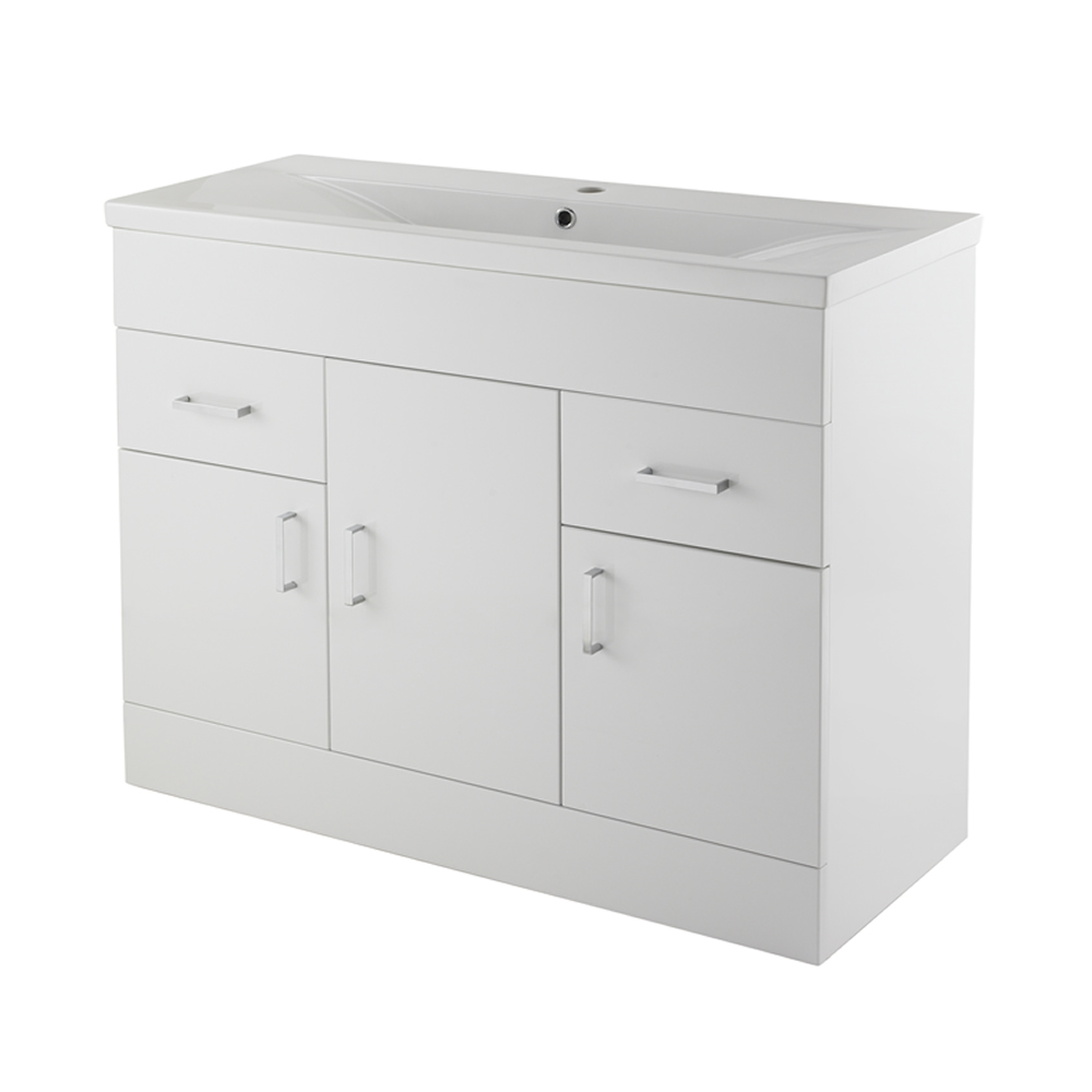 Premier White Minimalist 1000mm Vanity Unit