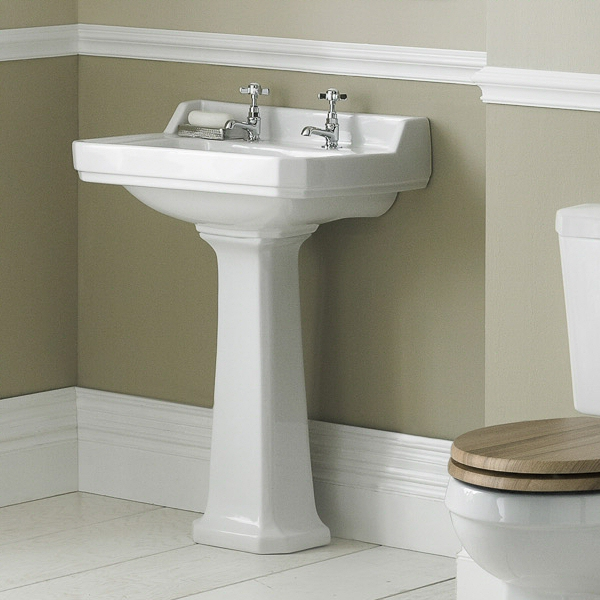 Old London Richmond 595mm 2TH Basin & Pedestal