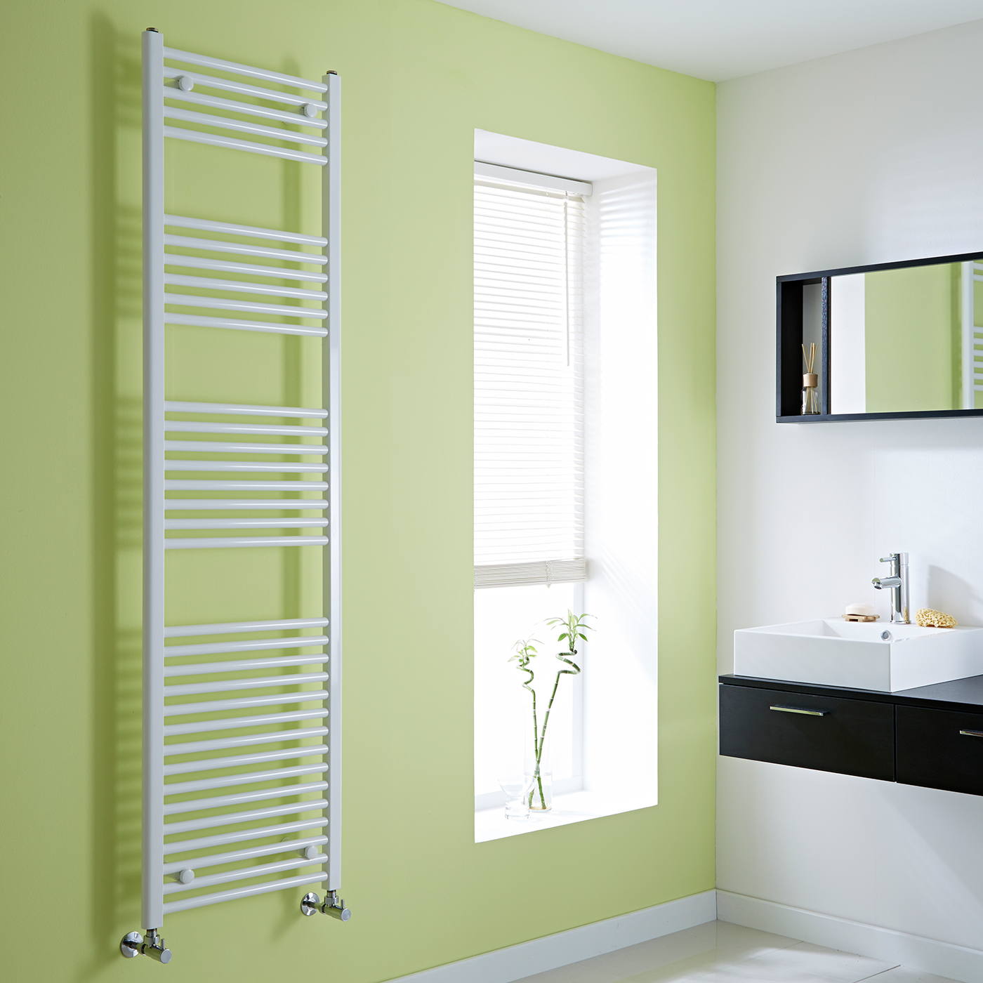 Milano Calder - Flat White Heated Towel Rail - 1800mm x 500mm