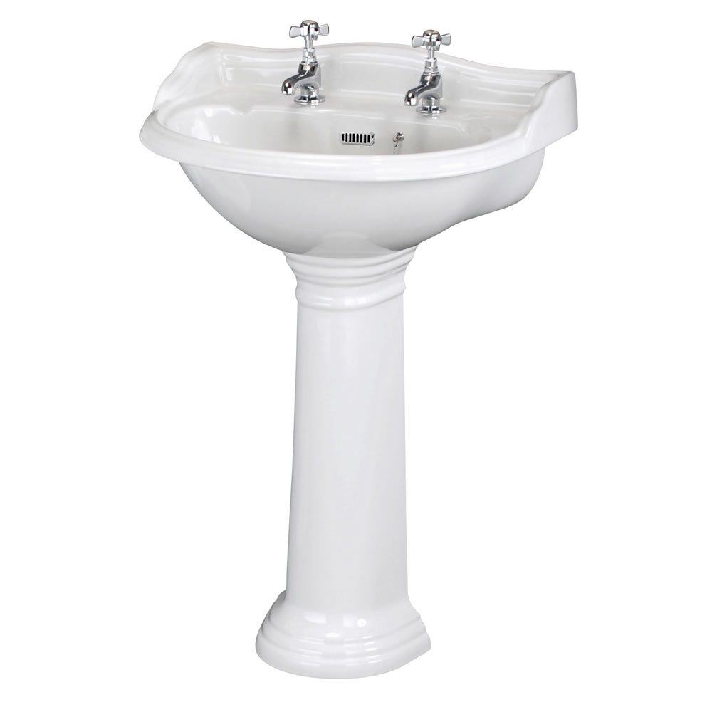 Milano Florence 60cm Basin 2TH With Full Pedestal