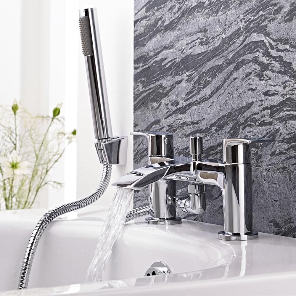 Milano Razor Chrome Bath Shower Mixer Tap