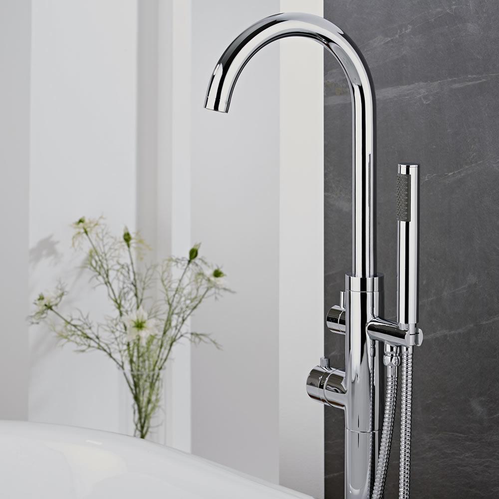 Milano Mirage Freestanding Thermostatic Bath Shower Mixer Tap