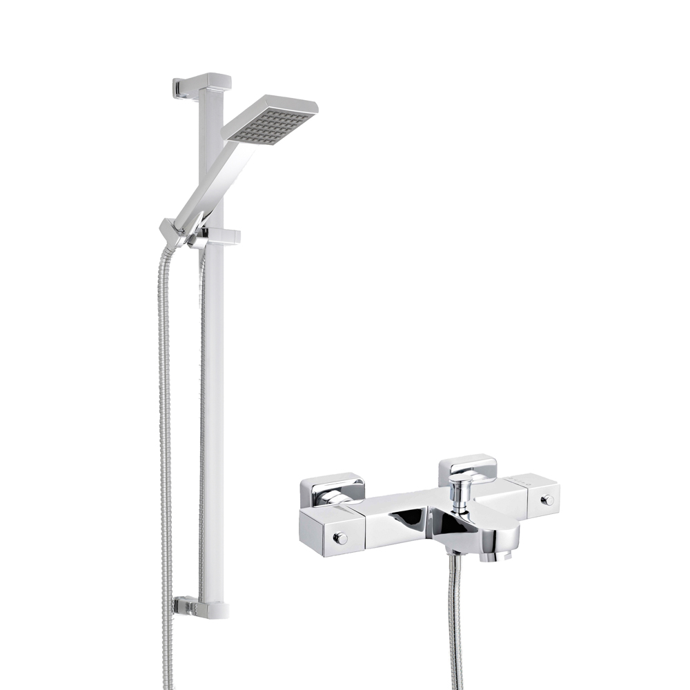 Milano Thermostatic Bath Shower Mixer with Slide Rail Kit