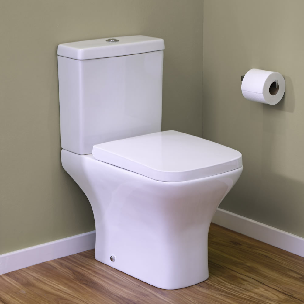 Milano Longton Close Coupled Toilet with Soft Close Seat