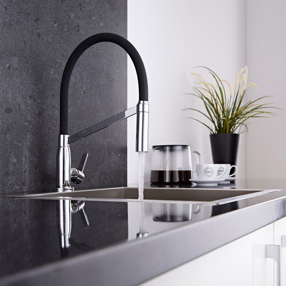 Milano Modern Monobloc Kitchen Sink Mixer Tap