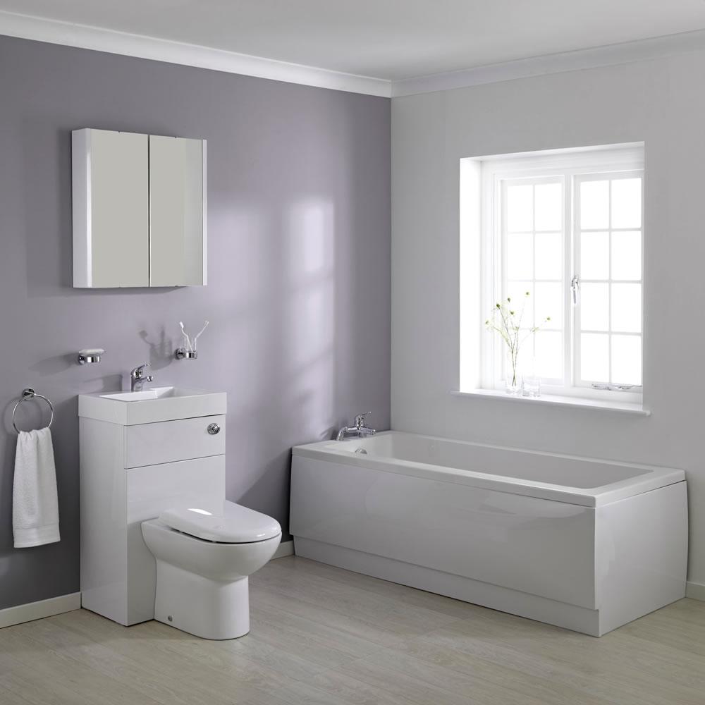 Milano - 1700mm Combination WC Unit Bathroom Suite