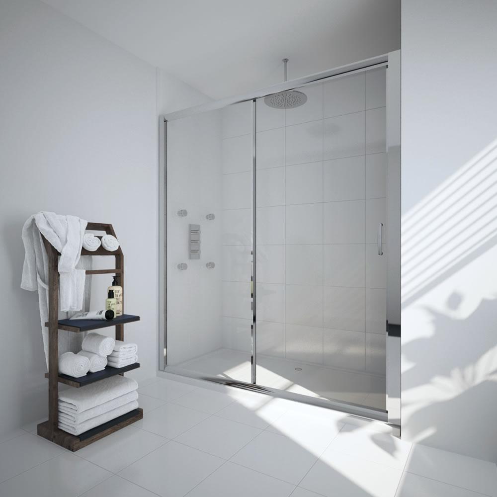 Milano Portland 1700mm Sliding Shower Door 6mm