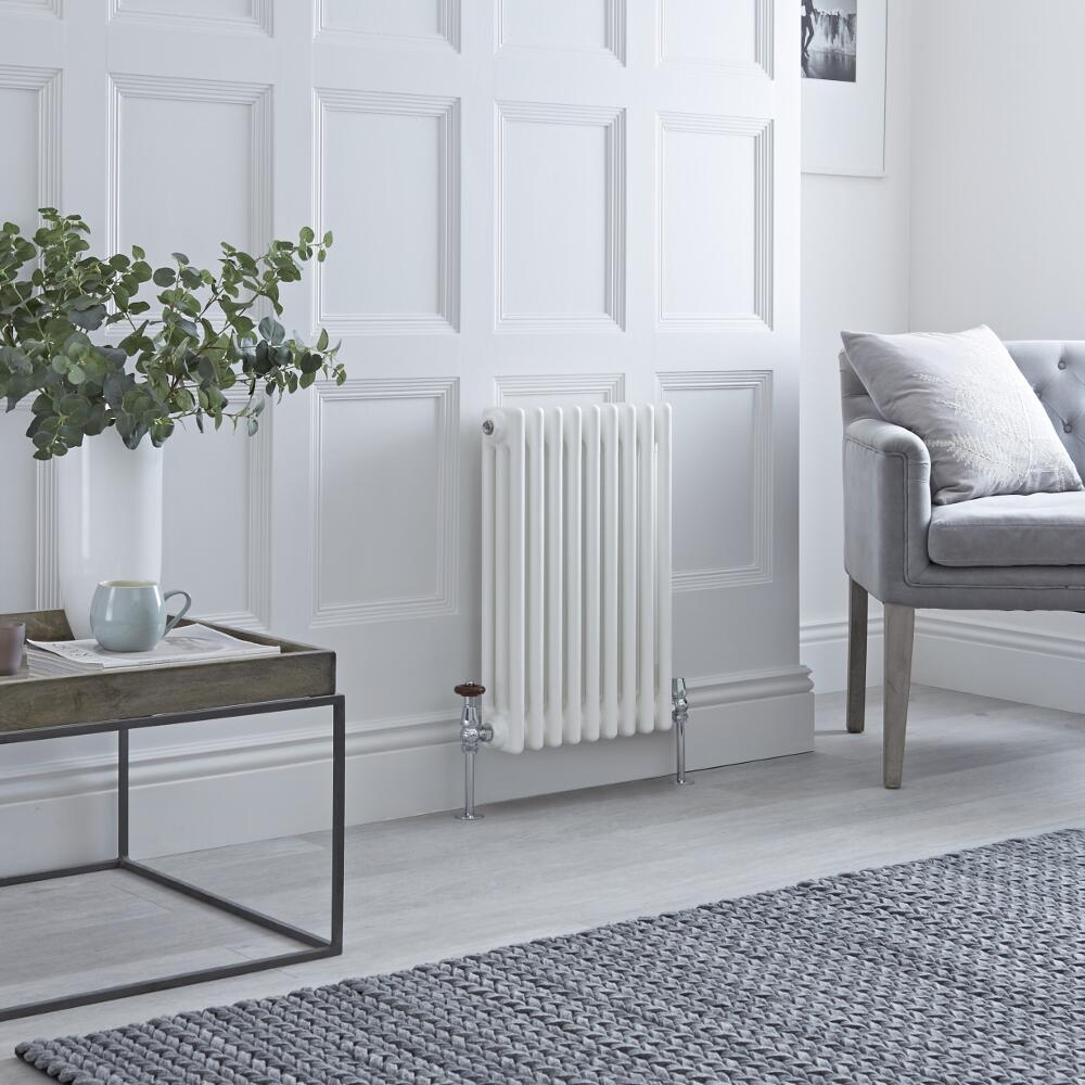 Milano Windsor - White Horizontal Traditional Column Radiator - 600mm x 425mm (Triple Column)