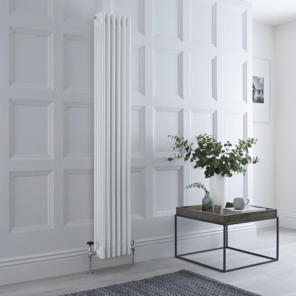 Milano Windsor - White Vertical Traditional Column Radiator - 1800mm x 290mm (Four Column)
