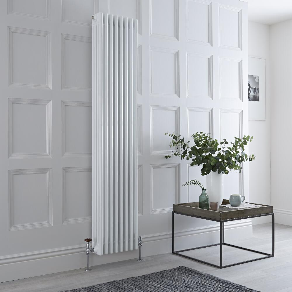 Milano Windsor - Traditional White 4 Column Radiator 1800mm x 360mm (Vertical)