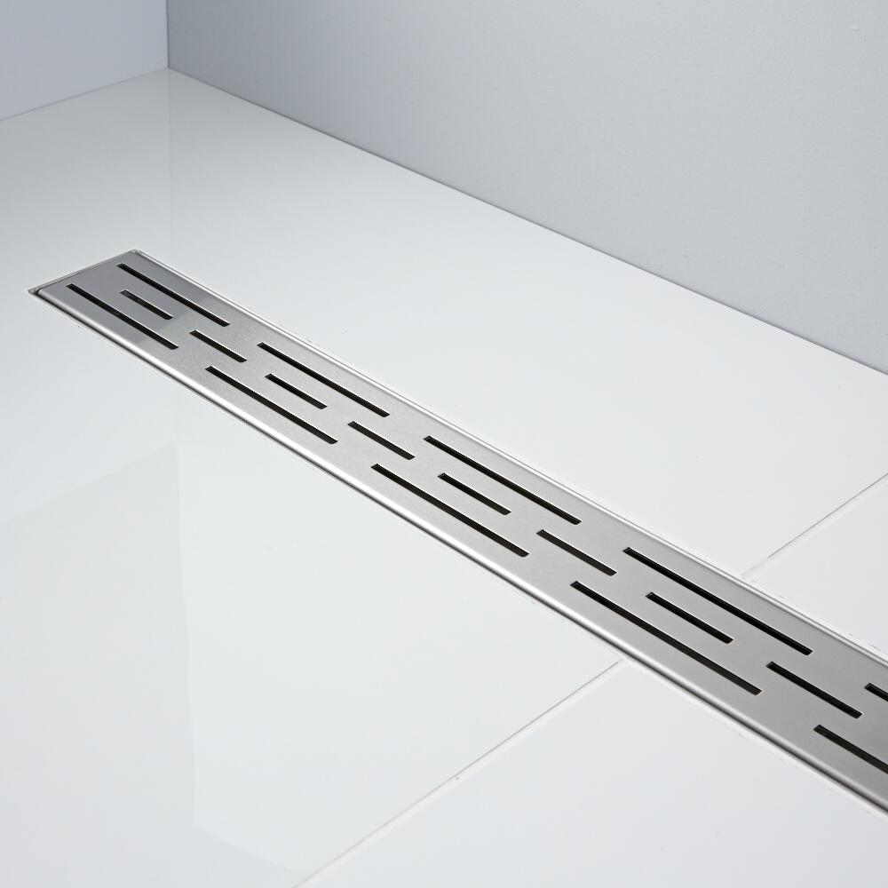 Milano 1200mm Linear Stainless Steel Shower Drain with Grate
