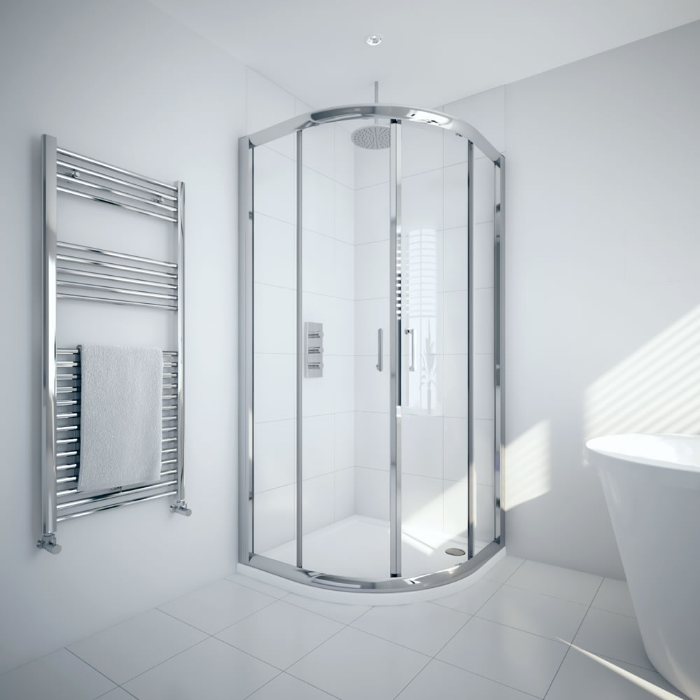 Milano Portland 900mm Quadrant Shower Enclosure 6mm