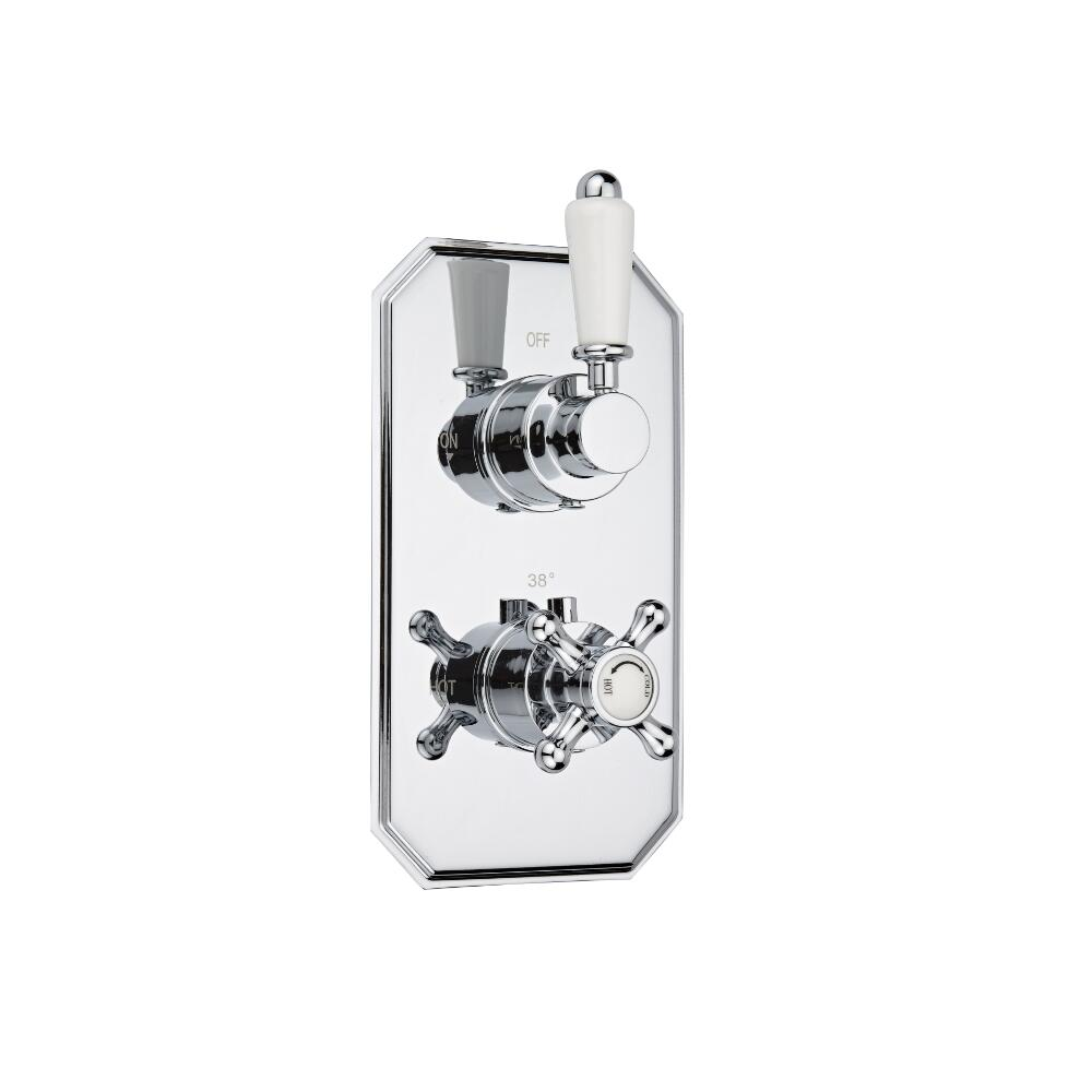 Milano Victoria Concealed Thermostatic Twin Diverter Shower Valve 2 Outlet