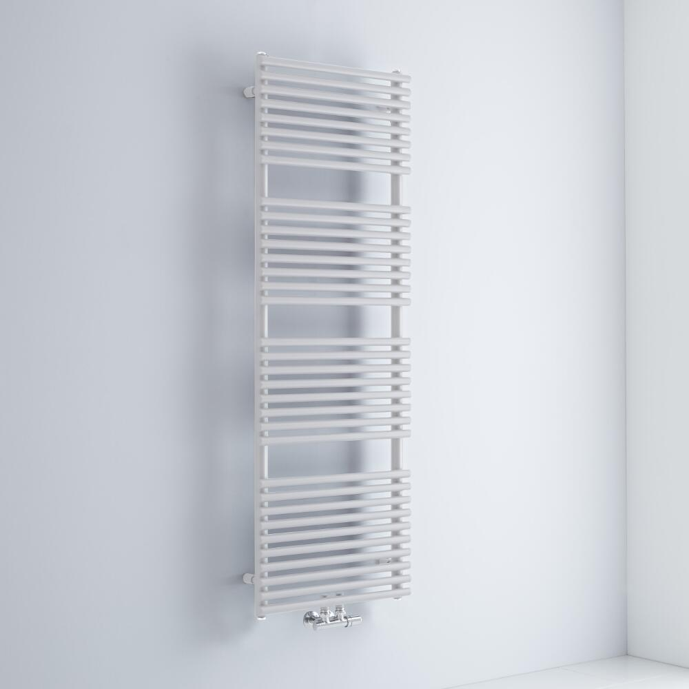 Milano Via - White Bar on Bar Central Connection Heated Towel Rail - 1500mm x 500mm