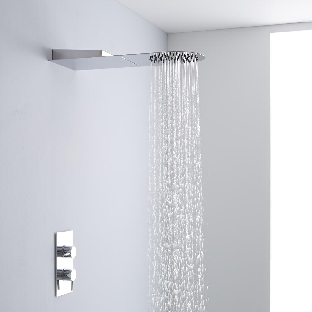 Milano Round Concealed Shower Head with Waterblade