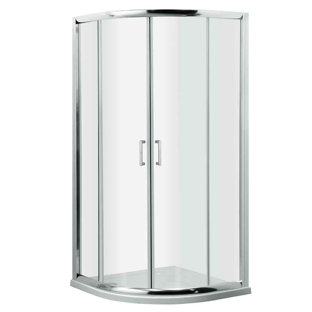 Milano Portland Complete Quadrant Shower Enclosure With Tray & Waste 900mm
