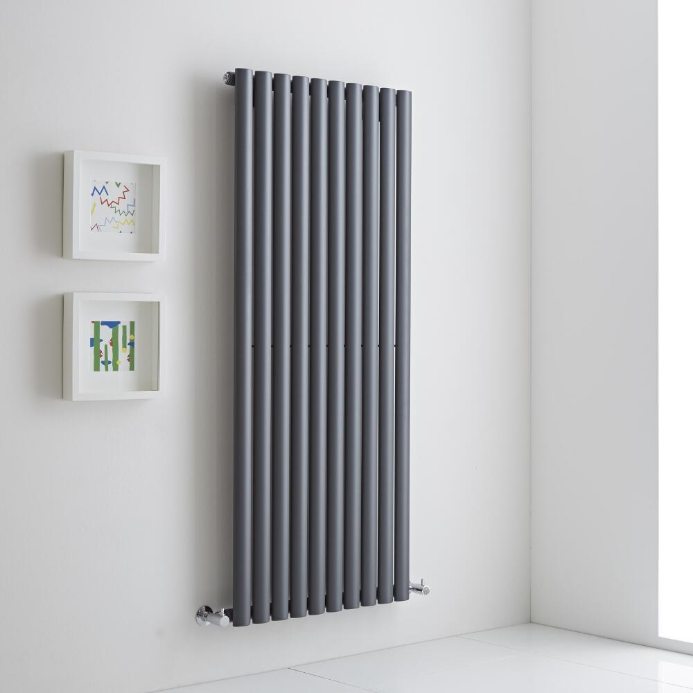 Milano Aruba Aiko - Anthracite Vertical Designer Radiator - 1400mm x 590mm