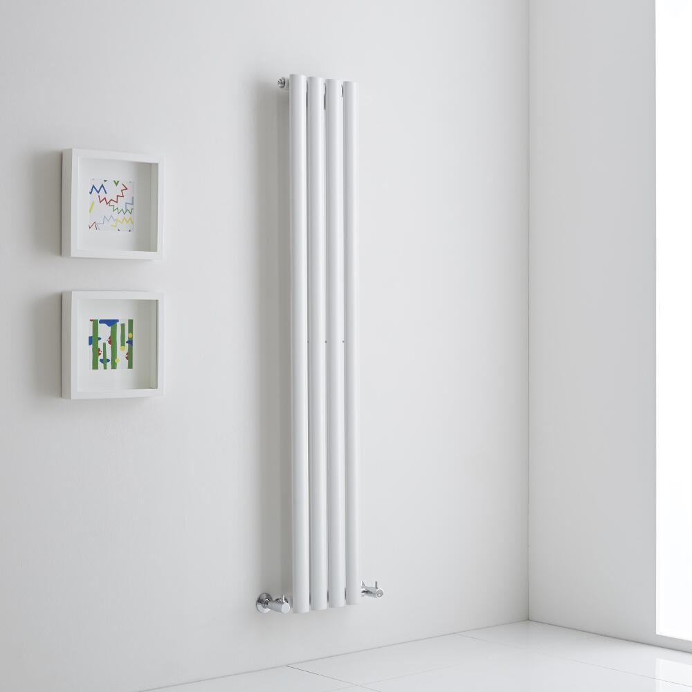 Milano Aruba Aiko - White Vertical Designer Radiator 1400mm x 236mm (Single)