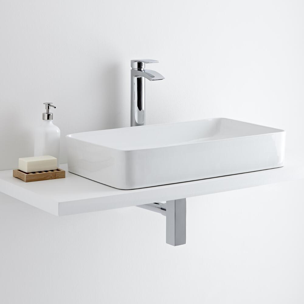 Milano Rivington - Rectangular Ceramic Countertop Basin 610 x 350mm