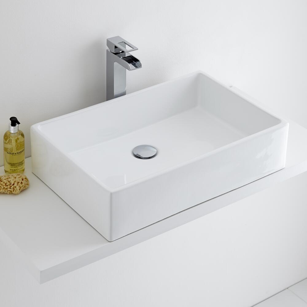 Milano Westby - Rectangular Ceramic Countertop Basin 610x400mm