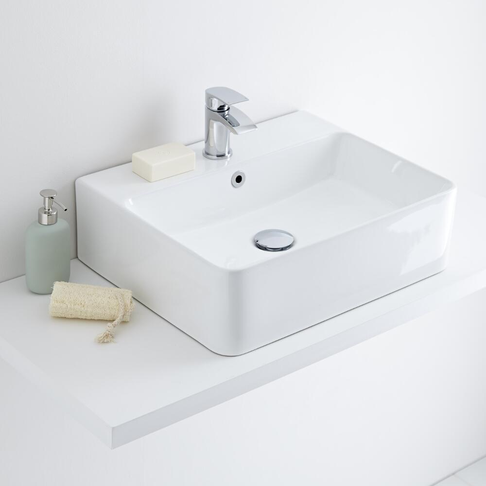 Milano Farington - Ceramic Countertop Basin 520 x 420mm
