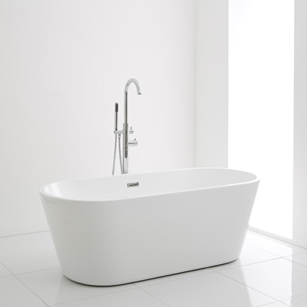 Milano Ballam - 1695 x 750mm Modern Oval Double Ended Freestanding Bath