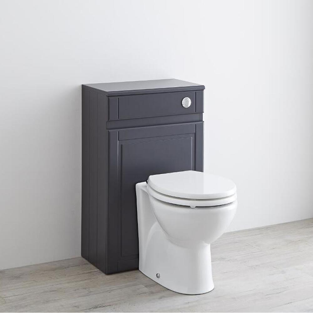 Milano Edgworth 500mm Traditional WC Unit - Anthracite