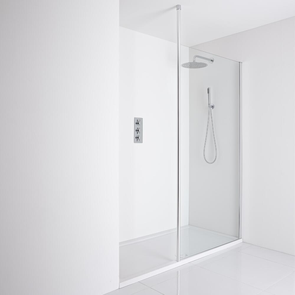 Milano Recessed Walk-In Shower Enclosure (1400 x 800mm)