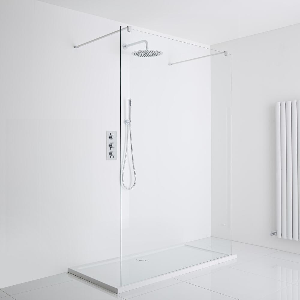 Milano Portland Floating Walk-In Shower Enclosure (1200 x 900mm) - Inc. Tray