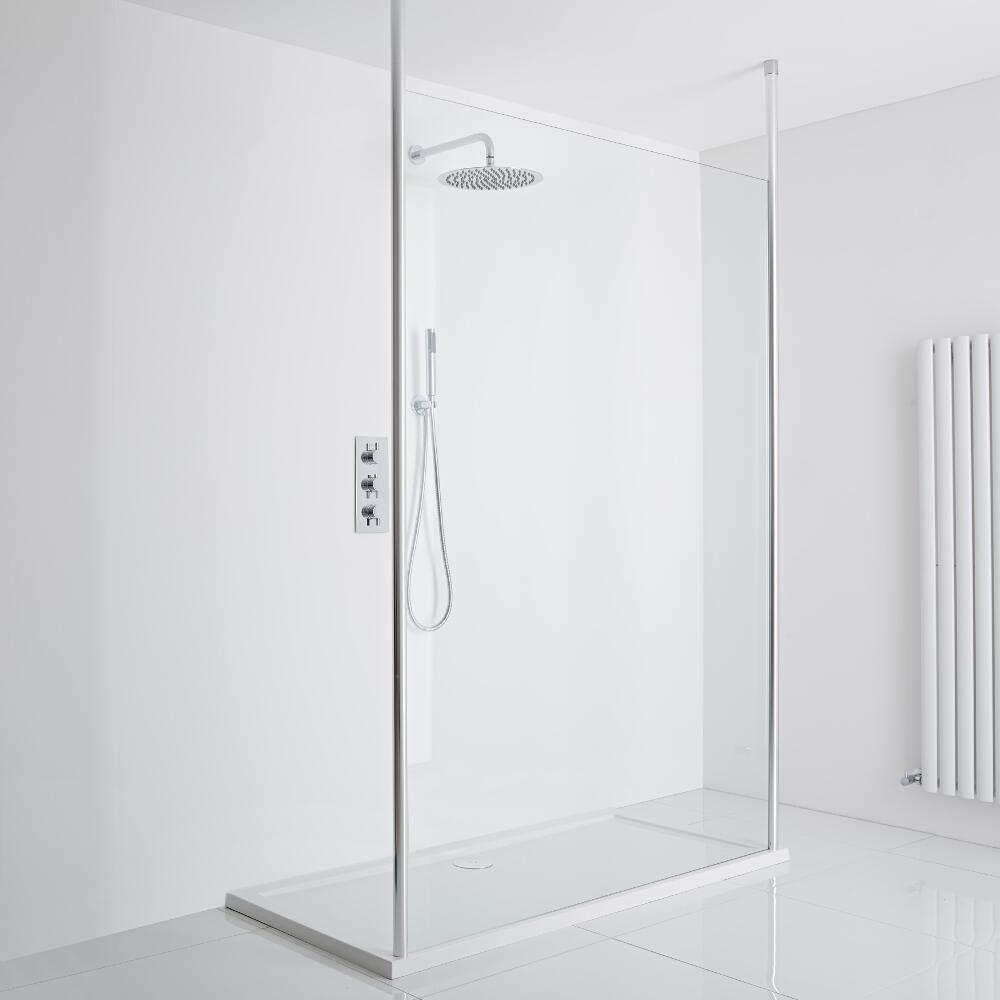 Milano Alto Floating Wet-Room Shower Enclosure (1400 x 900) - Inc. Tray